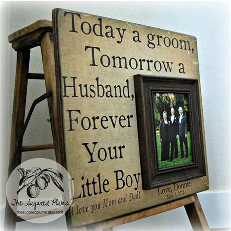 parents wedding gift personalized picture frame  today