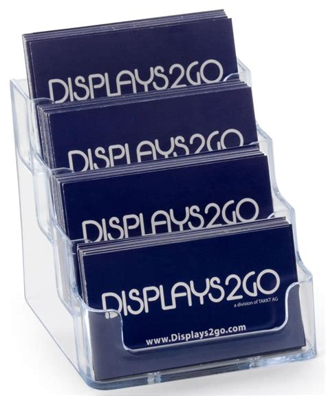 Get frame personalized business cards or make your own from scratch! 4 Pocket Business Card Holder   Acrylic Desktop Card Display