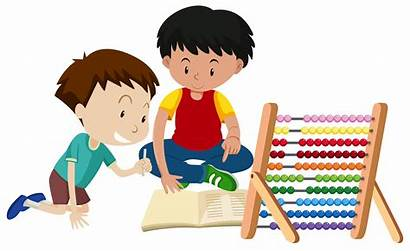 Brother Teaching Abacus Homework Vector Sister Ride