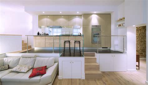 loft cuisine cuisine beige en i esprit loft modèle rive droite
