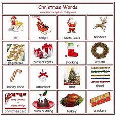 Vocabulary Christmas Words  English Language, Esl, Efl