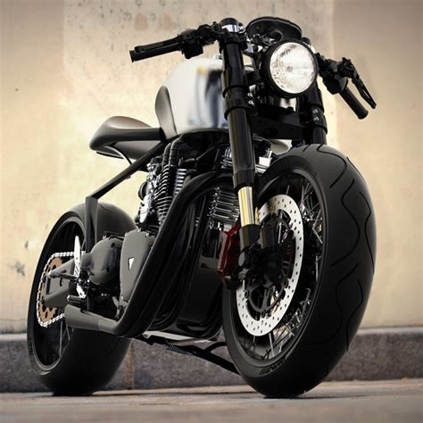 black motorbike black shadow h e concept motorcycle with hydrogen electric
