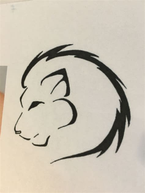 lion outline tattoo idea  images simple lion