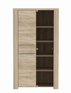 Sonoma Eiche Vitrine : vitrine calvin 1 eiche sonoma 111x197x50cm glasvitrine vitrinenschrank wohnbereiche esszimmer ~ Indierocktalk.com Haus und Dekorationen