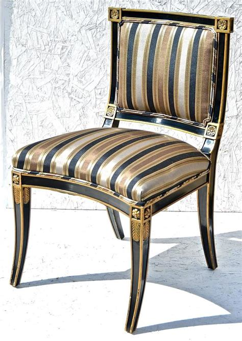 black and white bedrooms classical style chairs in black and gold at 1stdibs 14562 | Classical Chairs 2 l