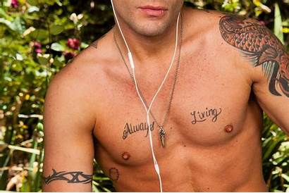 Abs Pecs Jeans Tattoos Earbuds Allwallpaper 1666