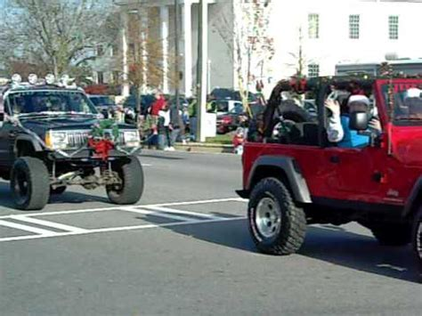 jeep christmas parade jeep masters of augusta columbia county georgia