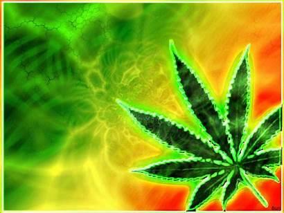 Weed Trippy Marijuana 420 Cannabis Psychedelic Reggae