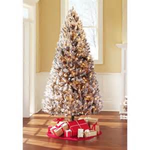 holiday time 7 5ft pre lit winter frost pine tree walmart com