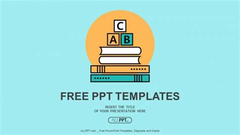 Alphabet Letter Abc Blocks On Books Powerpoint Templates