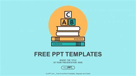 alphabet letter abc blocks  books powerpoint templates