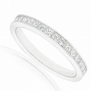 queenly channel set cheap diamond wedding ring set 1 carat With princess cut wedding ring sets cheap