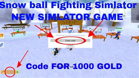 codes snow ball fighting simulator  gold youtube