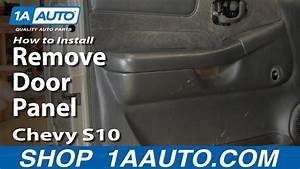 How To Install Replace Remove Door Panel Chevy S10 And Gmc