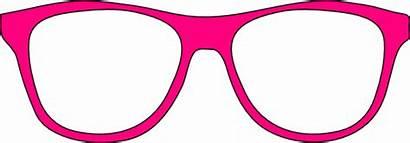 Glasses Pink Clipart Sunglasses Clip Cartoon Funny