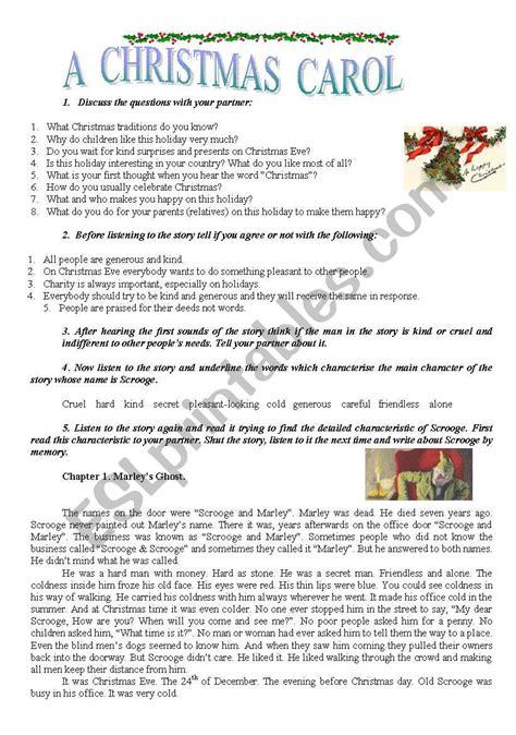 a christmas carol esl worksheet by sindelll