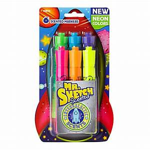 Mr Sketch Intergalactic Neon Scented Markers Chisel Tip