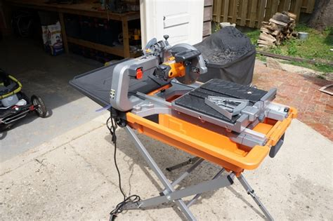 ridgid 8 quot tile saw review model r4040s tools in action