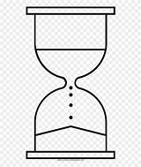 Hourglass Coloring Line Clipart Pinclipart Middle sketch template