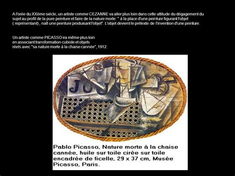 pablo picasso nature morte a la chaise cannee incitation 171 nature morte contemporaine 187 ppt t 233 l 233 charger