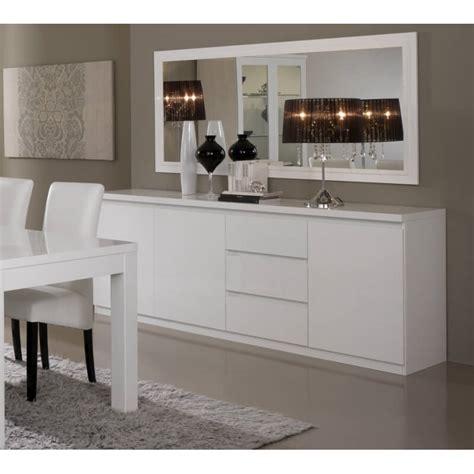 buffet blanc laqué buffet bahut design 3 portes 3 tiroirs laqu 233 blanc cristal matelpro