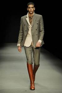 I hate pants tucked into boots on guys (unless itu0026#39;s for function) and this is an exceptionally ...