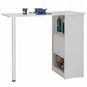 Table Cuisine Avec Rangement : meuble rangement de cuisine blanc avec table simmob ~ Melissatoandfro.com Idées de Décoration