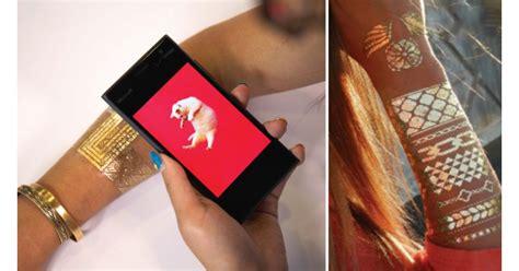 microsoft researchs metallic smart tattoo works   nfc tag