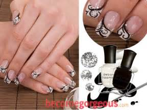 Black and white nail art designs are a perfect option for formal