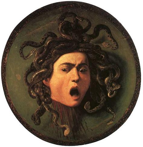 art every day: Caravaggio, Head of Medusa, 1597
