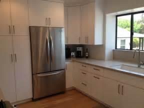 stainless steel kitchen backsplash panels modern flat panel modern kitchen los angeles by