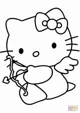 Coloring Cupid Valentine Kitty Pages Hello Drawing Printable Cartoon Lunch Box Valentines Colouring Template Line Clipart Clip Paper Sketch Getdrawings sketch template