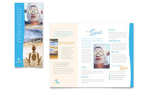 Free Spa Brochure Templates Spa Brochure Template Word Publisher