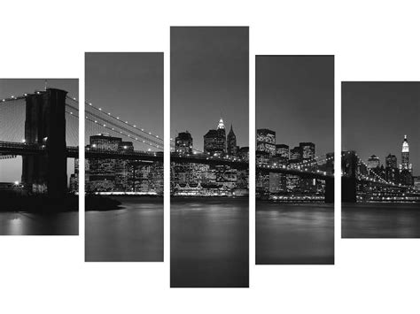 cadre new york conforama 5 toiles 150x100 cm