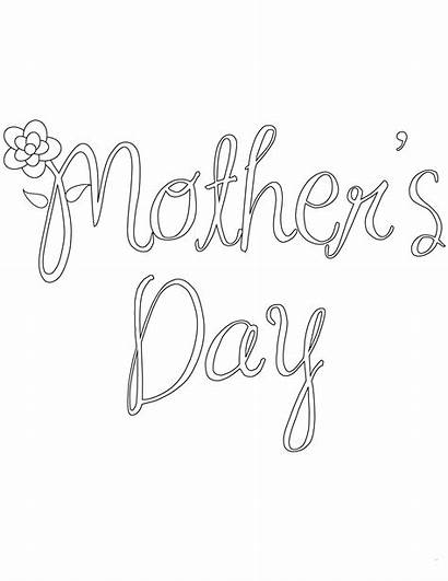 Coloring Pages Mother Mothers Preschoolers Printable