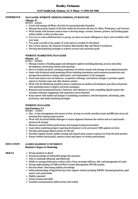 Beautiful Website Manager Resume Sample Festooning  Example Resume And Template Ideas Digicilcom