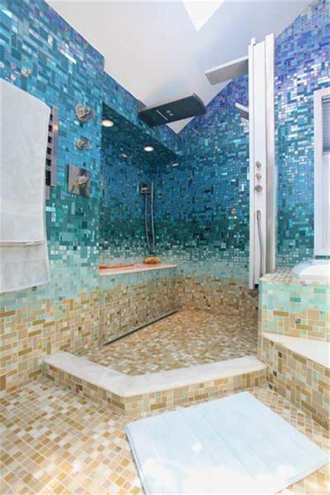 glass tile bathroom photos at susan jablon