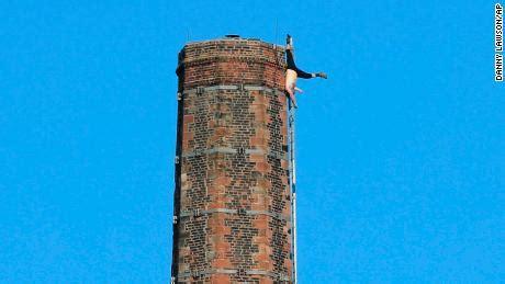 man dangling  dixons chimney  feet   emergency
