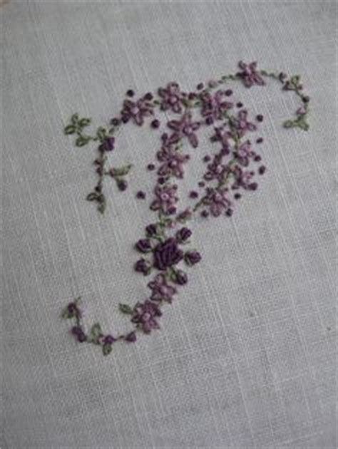 monogram images ribbon embroidery hand