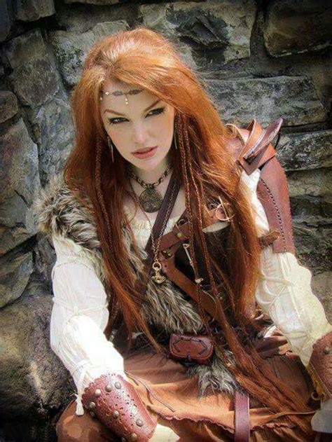 red haired archer viking woman warrior woman