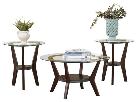 End tables:24w x 24d x 25h. Signature Design by Ashley 3 Piece Occasional Table Set - Transitional - Coffee Table Sets - by ...