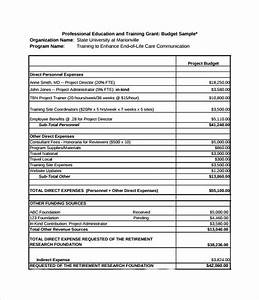 not for profit budget template - grant budget template 8 download free document in pdf