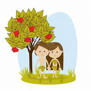 Adam and eve stock vector. Illustration of natural ...