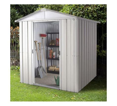 sheds at argos buy yardmaster apex metal garden shed 6 x 4ft at argos