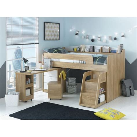 childrens desk with storage uk buy collection ultimate storage midsleeper bed wood