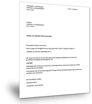 Maengelruege Und Maengelbeseitigung by Vorlage Kosten 252 Bernahme Krankenkasse