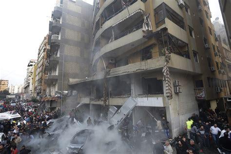 suspected suicide bombing kills   hezbollah run area