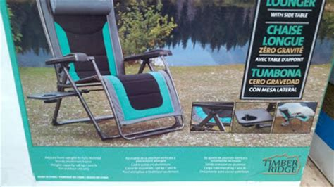 timber ridge folding lounge chair timber ridge zero gravity chair and lounger with side