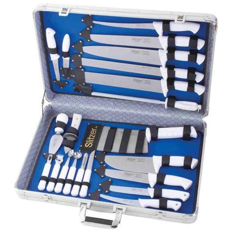 professional kitchen knives set slitzer 22 piece cutlery kitchen professional chef knife set with storage case ebay
