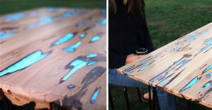 Guy Shows How To Make Glow-In-The-Dark Table With